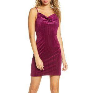 Morgan & Co. Ribbed Velvet Body-Con Dress